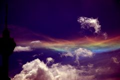 Colors of heaven II. A heavenly weave of colors in the sky Royalty Free Stock Image