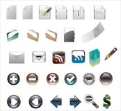 Colors icons on a white background. Royalty Free Stock Images