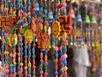 Colors of India. Colorful local hand made art and craft on display Stock Photography
