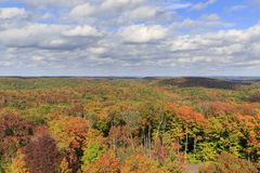 Colors of indian summer around Lake of Bays stock photos