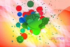 Colors ink splatter abstract background Stock Photos