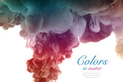 Colors and ink in water. Abstract background. Royalty Free Stock Photography