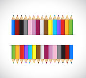 Colors inside a pocket. illustration design Royalty Free Stock Image