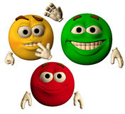 The colors of joy. Large emoticons showing happy faces vector illustration
