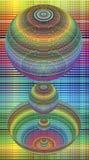 colors kinetic regnbågespheres Royaltyfri Bild