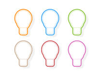 Colors light bulb icons. Vector illustration Royalty Free Stock Photography