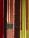 Colors Lines Old Storefronts Urban Buildings Stock Images