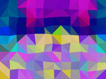 Colors low poly triangle style vector mosaic. Background Royalty Free Stock Photography