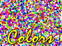 Colors make your day. All multicolored squares Royalty Free Stock Photography