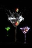 colors martini royaltyfri bild