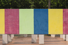 Colors of maze wall. At the park Royalty Free Stock Photos
