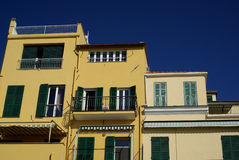 Colors of Mediterranean architecture Stock Photos