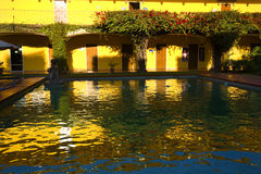 Colors of Mexico Reflections Yellows Blues Reds Royalty Free Stock Image