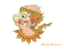 Colors monkey Hanuman art pattern Royalty Free Stock Photography