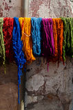 Colors of Moroccan tannery Royalty Free Stock Photo