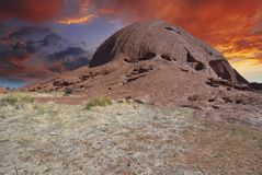 Colors and Mountains of Australian Outback Stock Photo