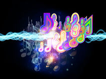 Colors of Music Royalty Free Stock Images
