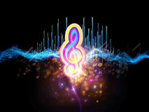 Colors of Music Stock Image
