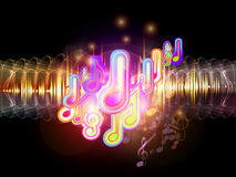 Colors of Music Stock Images
