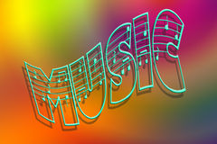 Colors of music Royalty Free Stock Photography