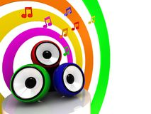 Colors of music Stock Photography