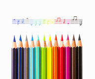 The Colors of Music Royalty Free Stock Images