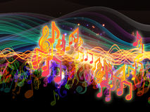 Colors of Musical Energy Royalty Free Stock Image