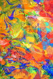 Colors Muted Composing. Composing of two abstract paintings, containing muted colors in a swirling, moving composition Stock Photo