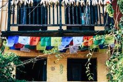 colors nepal royaltyfri bild