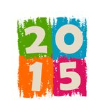 2015 in colors. New year 2015 in drawn colorful banner, holiday concept Vector Illustration