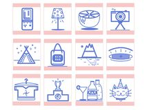 Nice variety of icons for you royalty free illustration