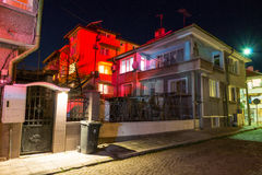The colors of the night Pomorie, Bulgaria royalty free stock image
