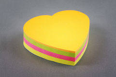 Colors note papers hearts Stock Photos