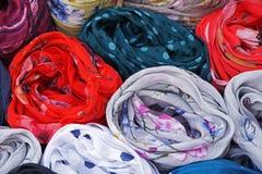 Colors in Oia, Santorini stock photo