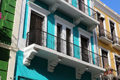 Colors of Old San Juan. Colorful buildings in Old San Juan, Puerto Rico stock photography