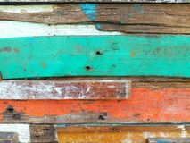 Colors of old wood. The colors and textures of old wood Stock Image