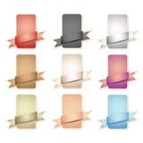 colors olika etiketter Vektor Illustrationer