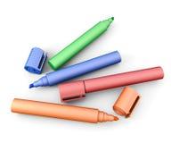 colors olika markörer royaltyfri illustrationer