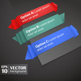 Colors Origami Tags Royalty Free Stock Photography
