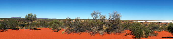 Colors of the Outback. Panoramic view of the Outback, going to Uluru, Australia royalty free stock photo