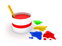 Colors Of Paint - Renovation Royalty Free Stock Image