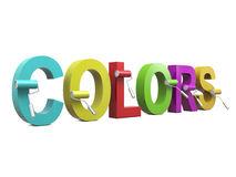 Colors and paint rollers Royalty Free Stock Photo