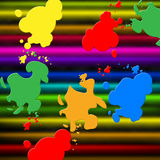 Colors Paint Shows Splashed Background And Splashing Stock Photography