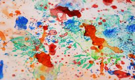 Colors, paint splashes pastel background, abstract colorful texture Stock Image