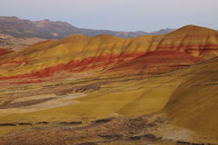 Colors of painted hills stock image