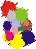 Colors for painting. Different colors splashed background randomly vector illustration