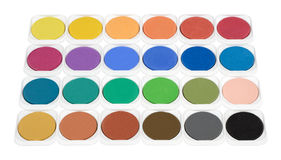 Colors. Painting color set isolated on white Stock Image