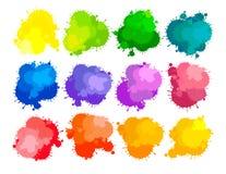 Colors of paints. Grunge design elements Stock Image
