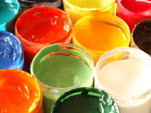 Colors of paints Stock Photos