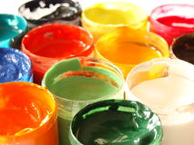 Colors of paints Royalty Free Stock Photos